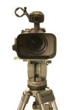 Video camera front view Royalty Free Stock Images