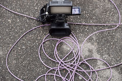 Video camera on the ground Royalty Free Stock Photo