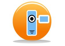 Video camera icon Stock Photography