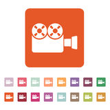 The video camera icon. Camcorder symbol. Flat Stock Photos