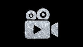 Video Camera Icon Icon Shining Glitter Loop Blinking Particles .