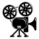 Video camera icon, simple black style Royalty Free Stock Images