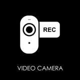 Video camera icon symbol flat style vector illustration.  Stock Photo
