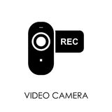 Video camera icon symbol flat style vector illustration.  Royalty Free Stock Image
