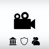 Video camera icon, vector illustration. Flat design style Royalty Free Stock Photography