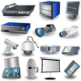 Video&camera Icons. Vector illustration of different video and camera related images Stock Image