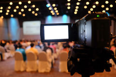 Video Camera In Conference Stock Images