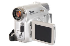 Video camera. Isolated Stock Image