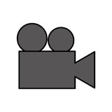 Video camera isolated icon. Illustration design Royalty Free Stock Photo