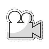 Video camera isolated icon. Illustration design Royalty Free Stock Image