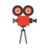 Video camera isolated icon. Illustration design Royalty Free Stock Images