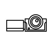 Video camera isolated icon. Illustration design Stock Image