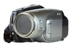 Video Camera. Isolated on a white background Royalty Free Stock Image