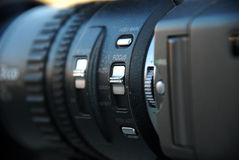 Video camera lens. Picture of a  Video camera lens Royalty Free Stock Photography