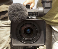 Video camera lens - recording show in TV Royalty Free Stock Image