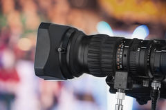 Video camera lens Royalty Free Stock Photos