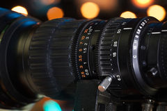 Video camera lens Stock Photos