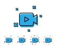 Video Camera line icon. Movie or Cinema sign.