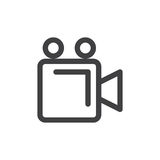 Video camera line simple icon Stock Photography