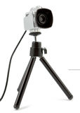 Video Camera Mounted On Tripod Royalty Free Stock Photos