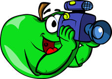 Video camera operator apple Stock Photo