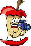 Video camera operator apple core Stock Photography