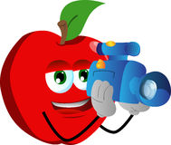 Video camera operator apple Royalty Free Stock Image