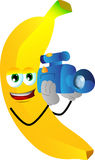 Video camera operator banana Stock Image