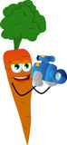 Video camera operator carrot Stock Photos