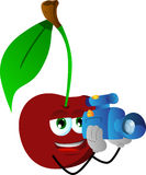 Video camera operator cherry Royalty Free Stock Photo