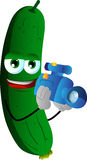 Video camera operator cucumber or pickle Royalty Free Stock Image