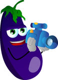 Video camera operator eggplant Royalty Free Stock Photos
