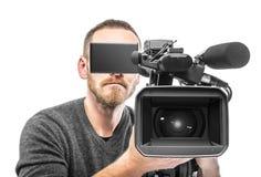 Video camera operator filmed. Stock Images