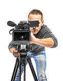 Video camera operator Stock Photography