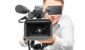 Video camera operator Stock Photography