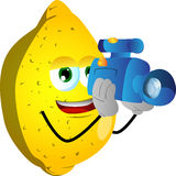 Video camera operator lemon Royalty Free Stock Photo