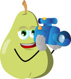 Video camera operator pear Royalty Free Stock Image