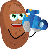 Video camera operator potato Stock Image