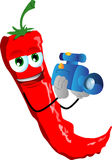 Video camera operator red hot chili pepper Royalty Free Stock Photos