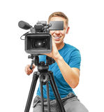 Video camera operator Royalty Free Stock Image