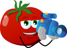 Video camera operator tomato Royalty Free Stock Image