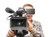 Video camera operator Stock Images