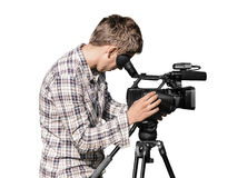 Video camera operator Royalty Free Stock Photos