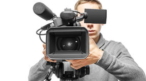 Video camera operator Royalty Free Stock Images