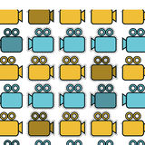 Video camera pattern isolated icon. Illustration design Stock Photography