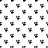 Video camera pattern vector seamless. Repeating for any web design Royalty Free Stock Images