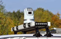 Video camera on police car Stock Photography