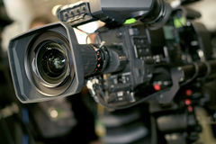Video camera for professionals Stock Photo