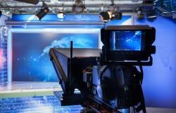 Video camera - recording show in TV studio Stock Image