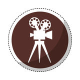 Video camera retro icon. Vector illustration design Stock Images